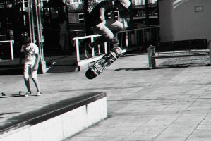 Skateboarding in Portugal by LucyLoveColours