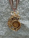 Slightly Steampunk Ammonite by magpie-poet