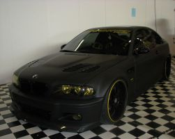 Black and Yellow BMW by xMandy92x