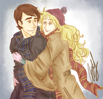 You wear my scarf by AniPokie