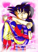 First Valentines Kiss for Goku by YamchaFan91