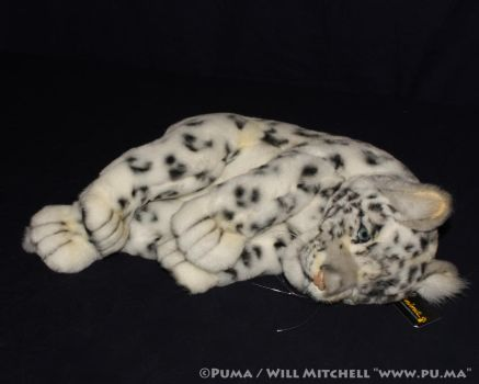 Hansa Anima - Playing Snow Leopard cub plush by dapumakat