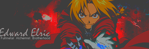 Edward Elric (FMA) V.1 Signature Banner By Me by Laurello7