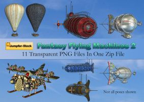 Fantasy Flying Machines PNG Stock Pack 2 by Jumpfer-Stock