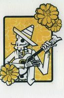 Screen Print : Day of the Dead by mevin