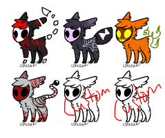 Halloween Masked Adopts (CLOSED) (NAME YOUR PRICE) by Blizzard--Adopts