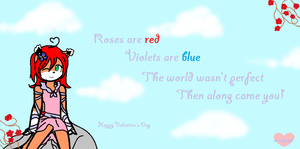 Valentine's day card with poem by MelodyMuffin