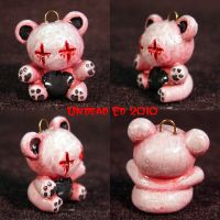 Dead Bear Charm ooak by Undead-Art