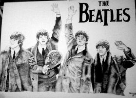 Beatles Stipple by SurvivingUtopia21