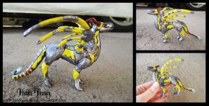 Lore- Cyborg War Dragon Sculpture by Hidden-Treasury