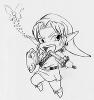 Chibi Hero of Time sketch by Vejit