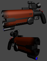 Starhunter: Rudy's Gun WIP by Vanguard3000
