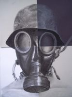 four piece charcoal gas mask for Darrienne by ExtremlySelfishChild