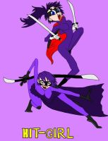 Hit-Girl: Comic VS. Movie by BARproductions
