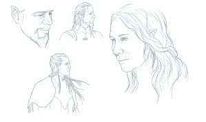 quick elvish sketches by Moumou38