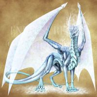 Endless Realms bestiary - Frost Dragon Scion by jocarra