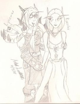 Lynceus and Rizzles by dragoon1013