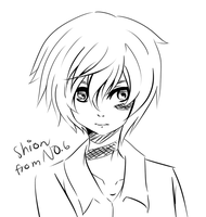 Sketch: Shion from NO. 6 by roe-ru