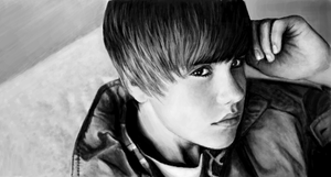 Justin Bieber drawing by LittleJBieber