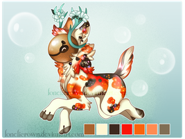 MYO Lucky Chime Entry - Koi fish Fawn by lonelicrown