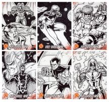 Kree Skrull War Sketch Cards 1 by tonyperna