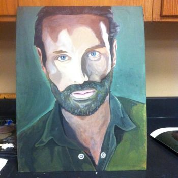 Rick Grimes Oil Paint by EcCenTricN8tive26