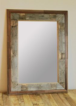 Reclaimed Wood Mirror Frame by kate-arthur