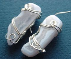 Arctic Cave Earrings by sojourncuriosities