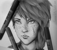 Concept Portrait - Seanait by CosmosKitty