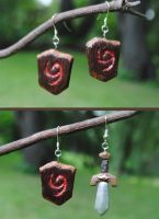 Deku Shield Earrings by Drat-Nine