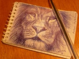Aslan Sketch by Narniakid