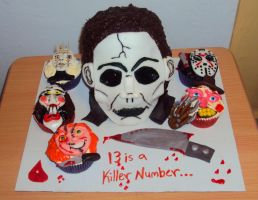 Horror Movie Cake by ToughSpirit