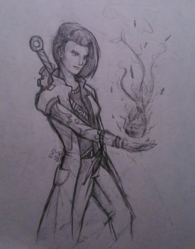 Late Night Sketches - Mechanic/Mage by AlexJustOut