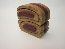 Purpleheart and ash bandsaw box by DMSscroller