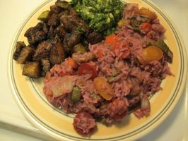 Grilled Lamb and Chayote w. Chimichurri and Rice 2 by Windthin