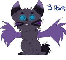 Bat kitty adopt by yodobutts