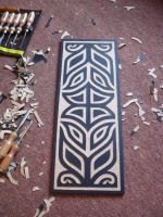 Tribal Wood carving  2010 by Ash-Harrison