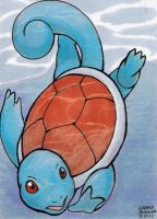Squirtle ACEO colored by AokiBengal