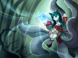 Ahri the nine tailed pony by pridark