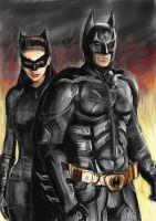 Dark Knight Rises Catwoman and Batman by botmaster2005