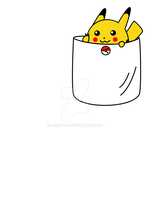 Pocket Pikachu T-shirt by Madisya