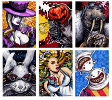 Nevermore Alice Eat Me Drink Me Sketch cards by Kapow2003