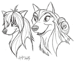 A&O-Eva and Lily concept art doodle by Stray-Sketches