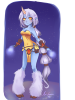 Soraka, from the stars by Aoi-Lemon