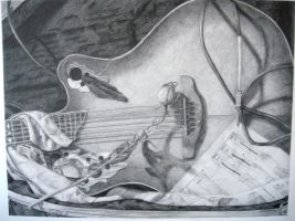 Guitar Still Life by Amandriel