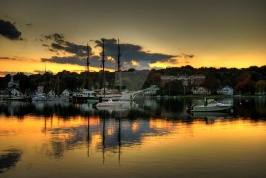 Mystic River at Sunset II by MichaelBapst