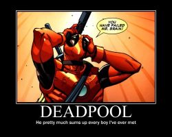 Deadpool Motivational Poster by NyctoScoto
