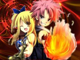 NATSU AND LUCY FIERY PASSION by natsusalamander19
