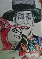 The Joker and Harley Quinn by Panicatthedisco7