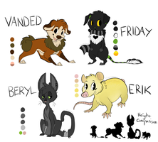 Character Refs by GemFeathers